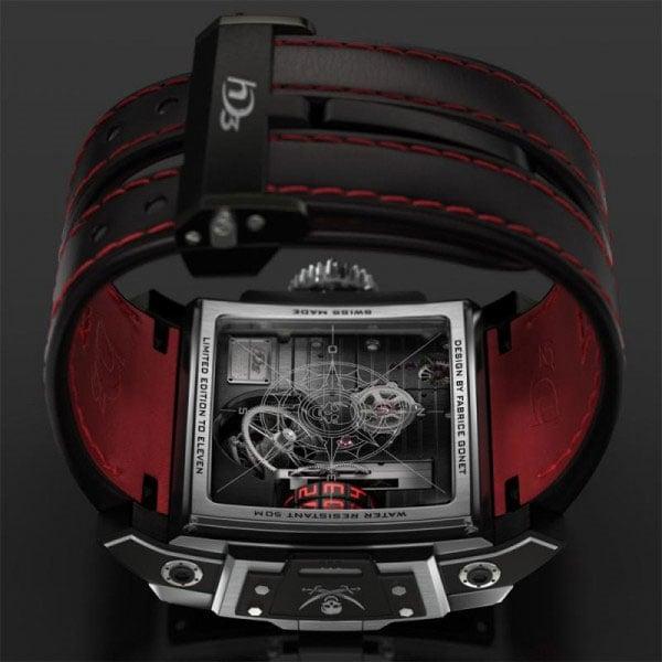 hd3 complication black pearl pirate watch