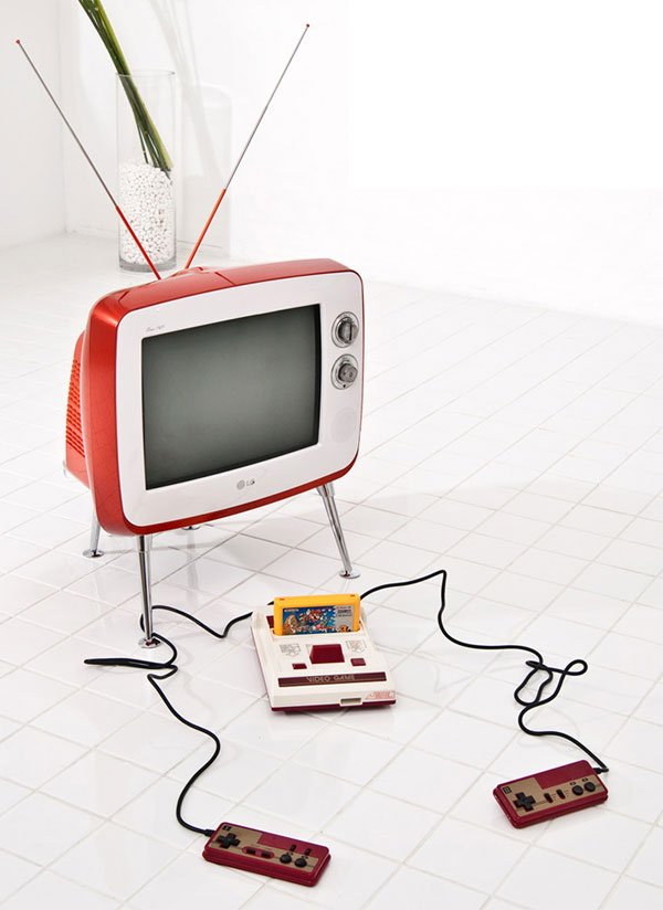 lg retro tv crt serie 1 famicom