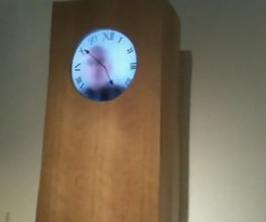 Real Time Grandfather Clock Made by a Man Who's Gone Cuckoo