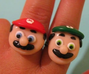 Mario and Luigi Rings for You and Your NES Friend