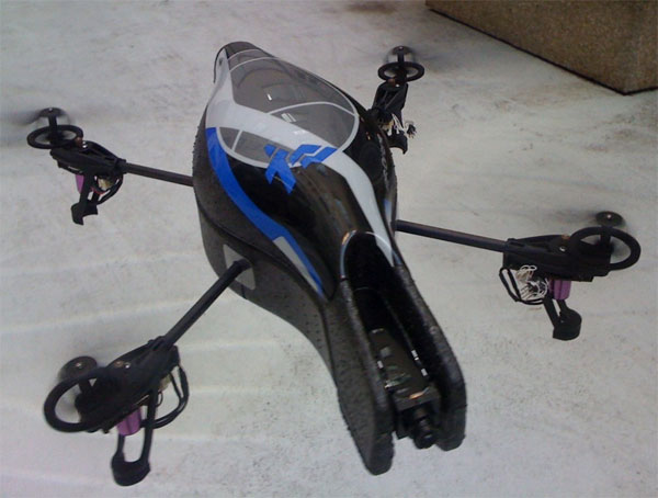 The AR.Drone from Parrot is one amazing toy. It can be controlled via