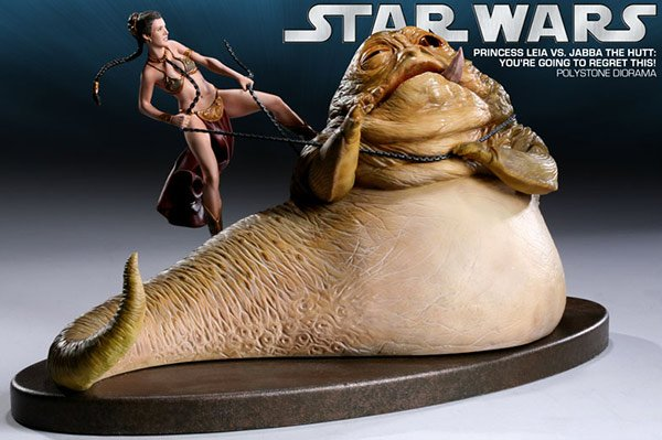 princess leia amp; jabba the hutt