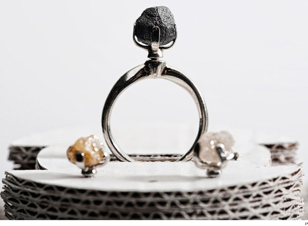 Ring With Uncut Rough Diamonds Still as Pricey as the Shiny Ones