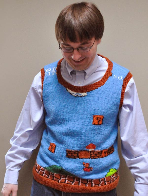 super mario sweater vest front