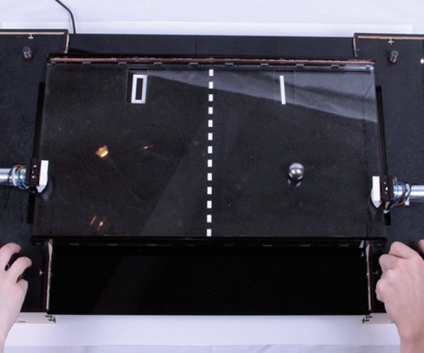 Tabletop Pong: More Fun to Build Than to Play