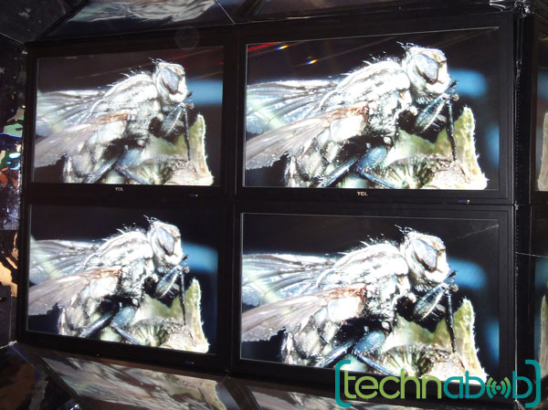 Made by China's TCL, this unique display uses a special set of lenticular