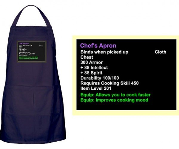 Wow Epic Cooking Apron: Obtained Through Hours of Grinding, Chopping, Boiling, Baking…