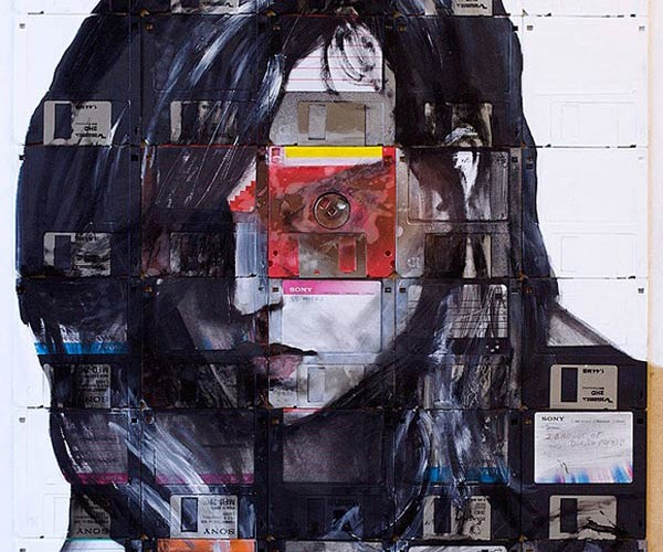 Nick Gentry's Floppy Disk Paintings Offer Recycled Memories