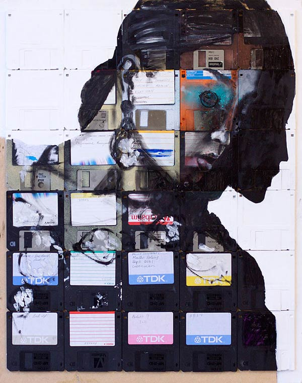 nick gentry floppy disk art