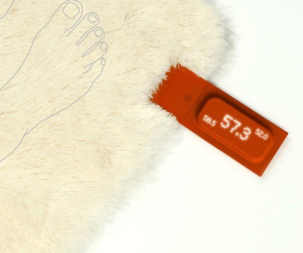 Rug With Scale Remembers Your Weight and Keeps Your Feet Warm