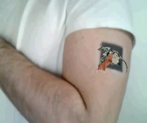 Augmented Reality Tattoo Can Fly Off!