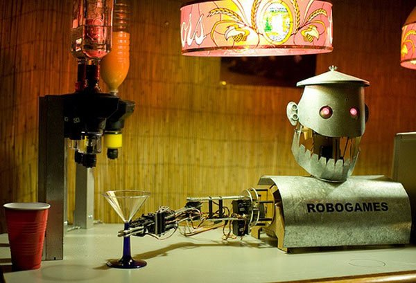 robot bartender drinks bar