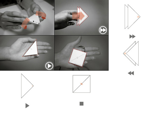play mp3 player origami design concept mobile