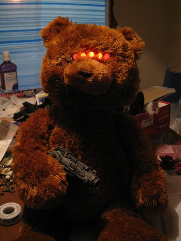 cylon robot teddy bear toy diy