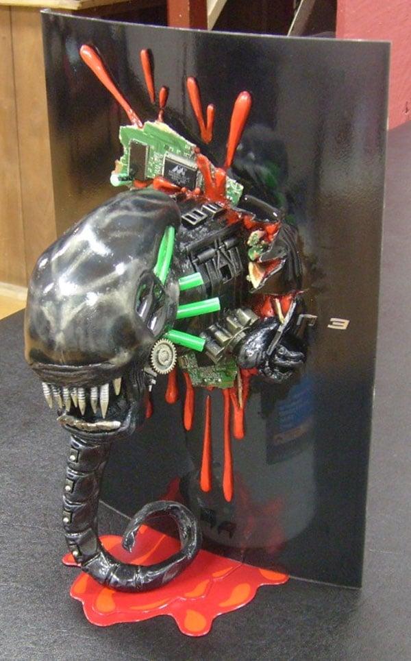 alien chestburster casemod
