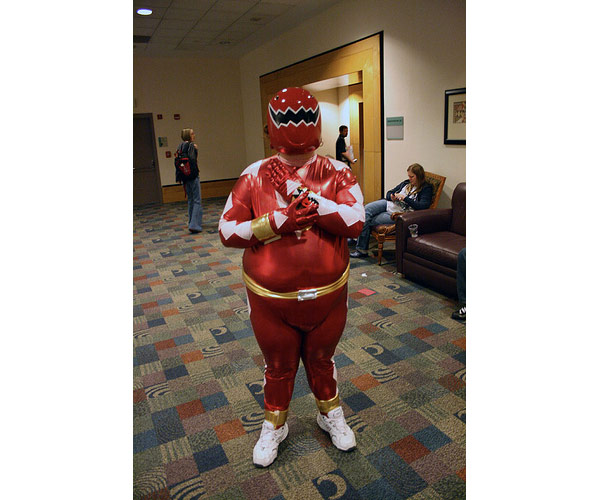 chubby red dino ranger