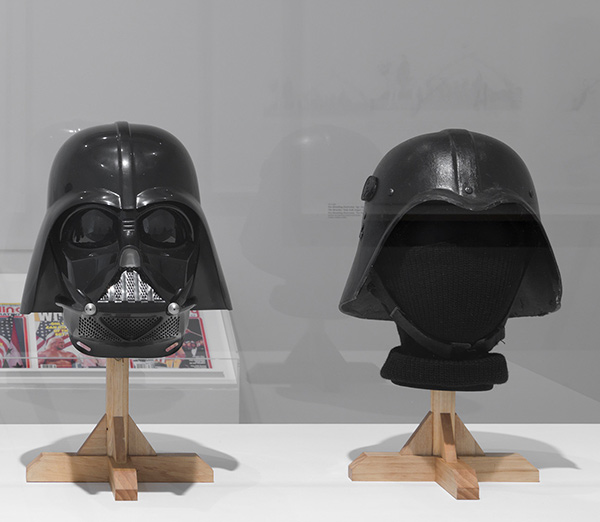 darth vader helmet with saddam army helmet