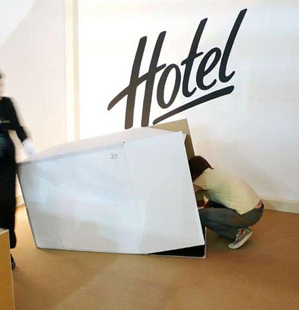 five star cardboard hotel