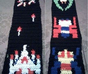 Pew-Pew: Galaga Scarf Fires at Your Neck