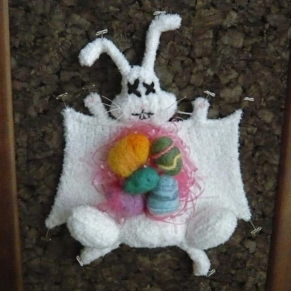 knitted dissected easter rabbit