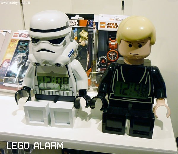 lego star wars minifig alarm clocks