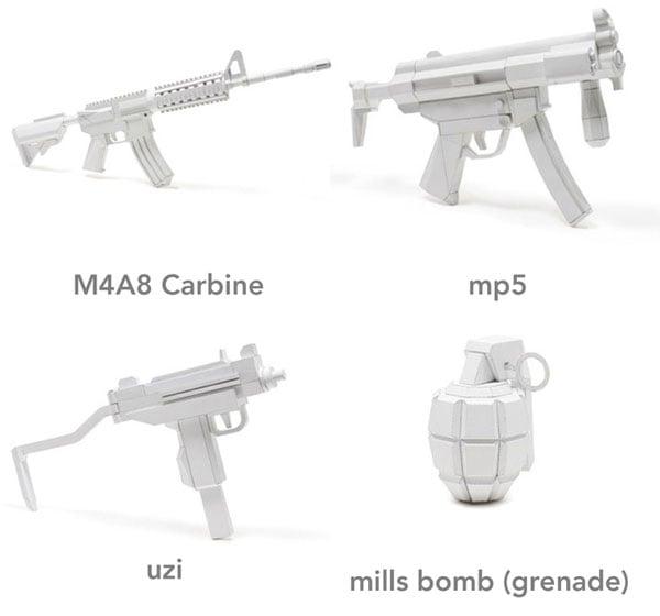 Papercraft Gun Templates