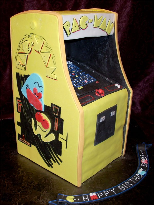Pac Man Arcade Cabinet Cake Is The Best Pac Man Arcade
