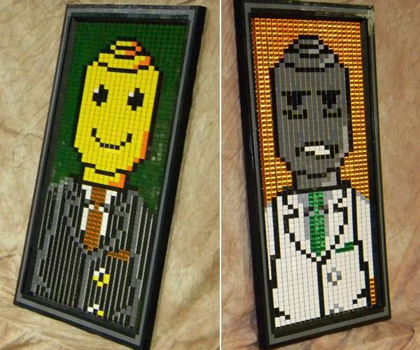 Dorian Gray Gets LEGO-Fied: Legos Go Lenticular