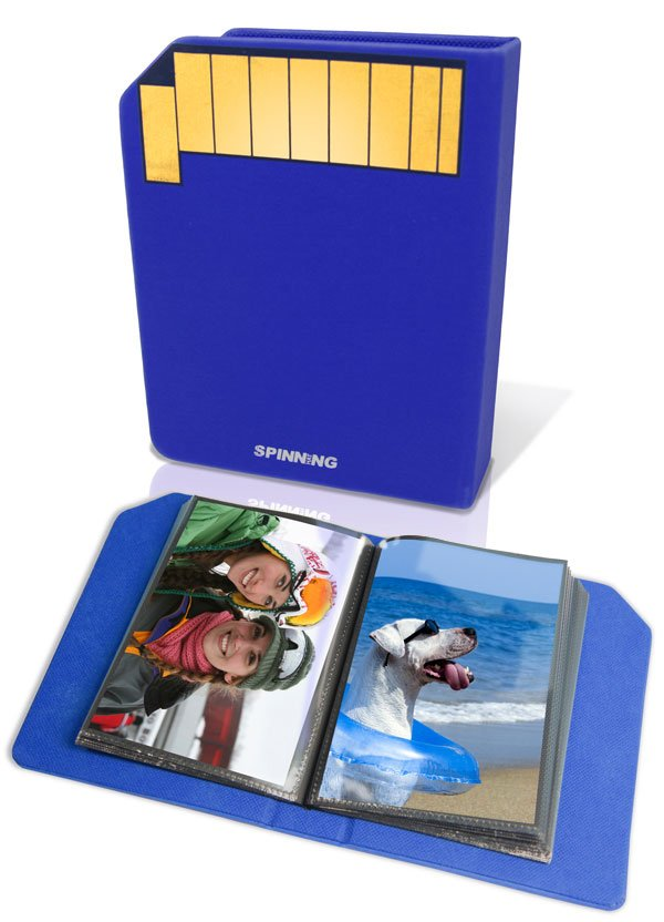 sd card photo album back