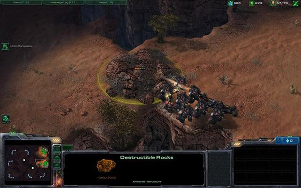 starcraft 2 destructible rocks