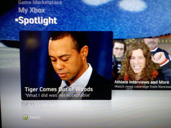 tiger woods xbox 360 news