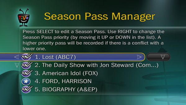 tivo season pass manager