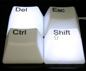 USB Giant Keyboard Lamps: Esc Darkness and Ctrl the Light
