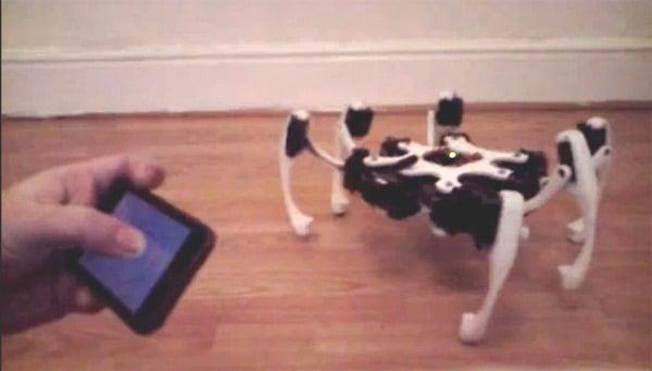 robert stephenson iphone app robotics robots hexapod