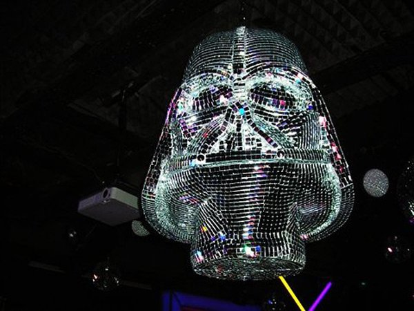 the darth vader disco ball dancin 39 to the dark side technabob. Black Bedroom Furniture Sets. Home Design Ideas