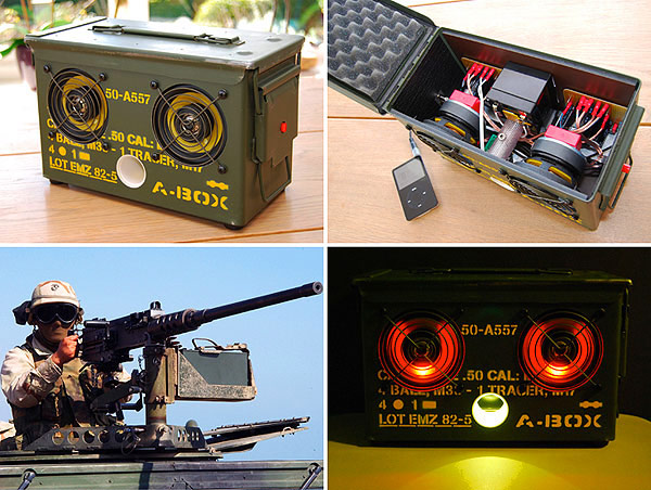 ammo box a-box thomas spaans ipod iphone dock