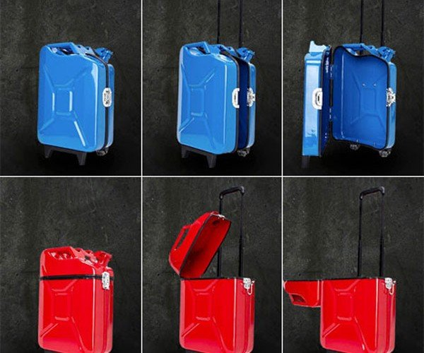 Gascase: Suitcase Not Approved for Dispensing Gasoline