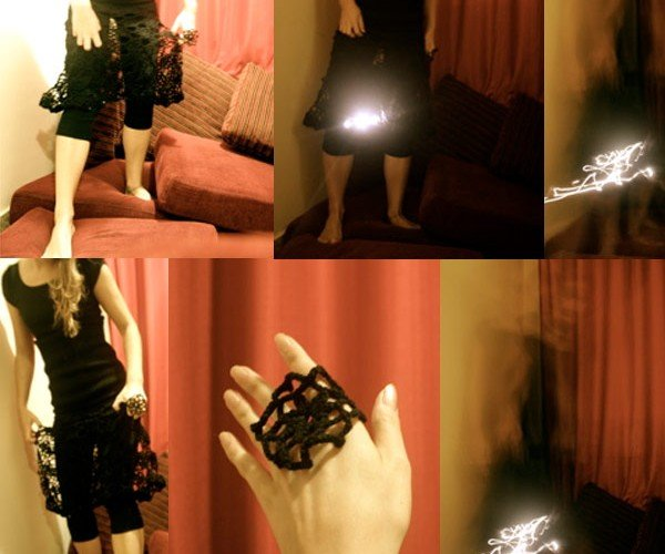 Kristi Kuusk's LED Dress Lights Up the Night