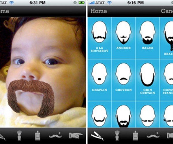 The Beardme iPhone App: Do You Want the Mustache on or Off?