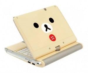 Über-Cute Rilakkuma Netbook: Aww.