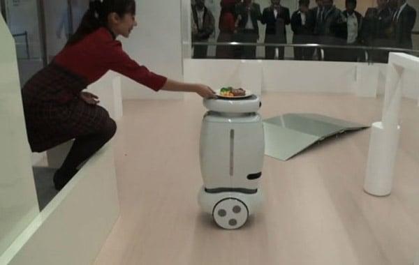 wheelie toshiba robot japan butler