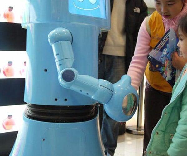 Hai Bao Robot Says Hi and Bye at the Shanghai Expo