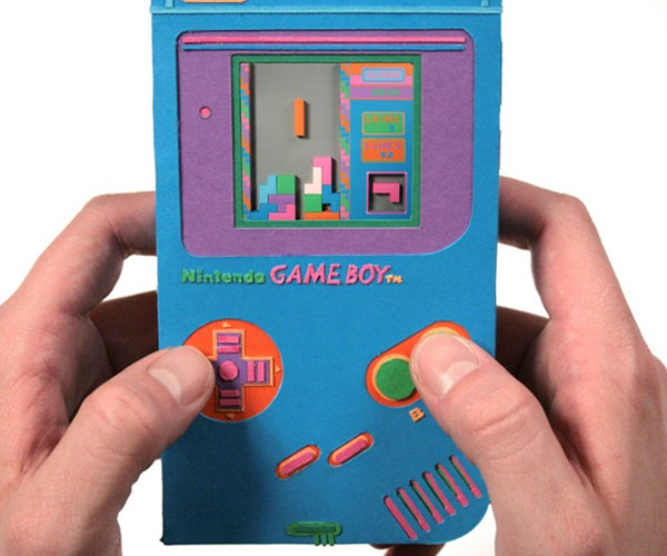 Zim and Zou'S Paper Game Boy Won'T Let You Play, but Still Looks Cool
