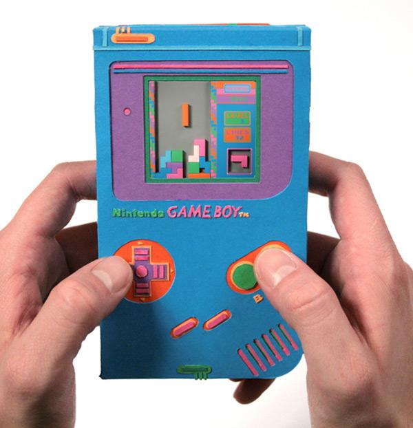 paper game boy nintendo zim and zou