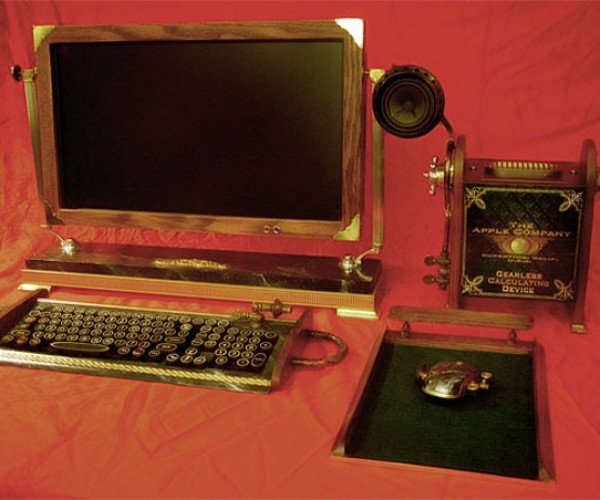 Woodguy's Custom Steampunk Desktops Look Great