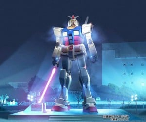 Japan'S Gundam Statue to Wield Lightsaber