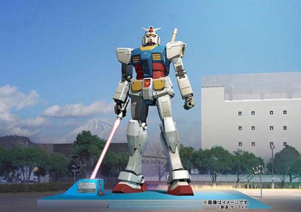 gundam japan lightsaber statue return