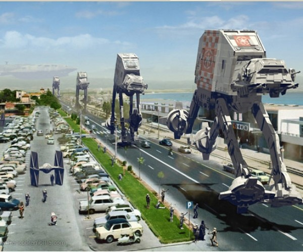 AT-ATs and AT-STs Invade Postcards