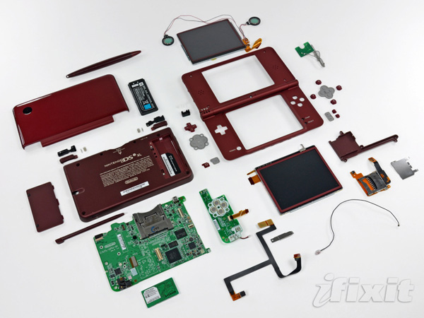 ifixit dsi nintendo xl teardown video games