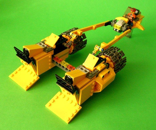 Dozracer: Bulldozer LEGO Kit Becomes Star Wars Pod Racer